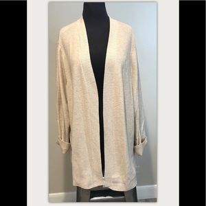 Talbots Cotton Blend Ribbed Cardigan Plus 3X NEW